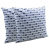 Store Indya Set Of 2 Cotton Cushion Covers Hand Woven Dot Printed Throw Pillow Case Home Sofa Decorative