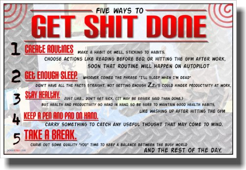 Get Shit Done - NEW Motivational Poster