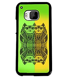 PrintVisa Plastic Multicolor Back Cover For HTC One M9 & One Hima