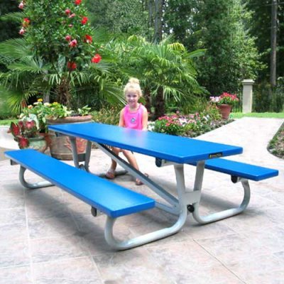 Southern Aluminum 6 ft. Folding Lil Picnic Table - PL6F-GRN