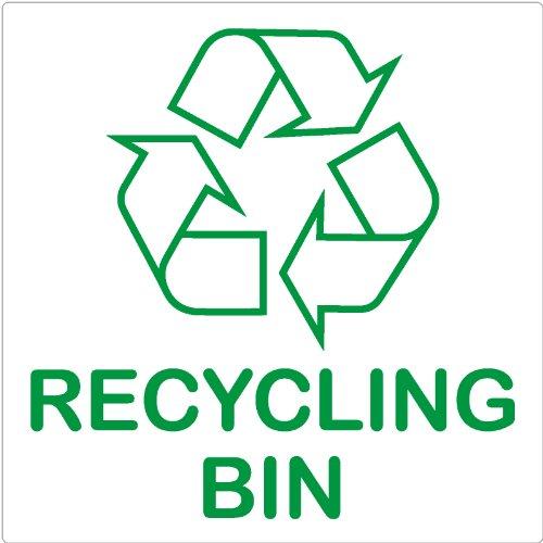Poubelle de recyclage de recyclage-Sticker Autocollant Logo Sign-étiquette environnement