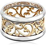 Gold over Sterling Silver Filigree Band Ring