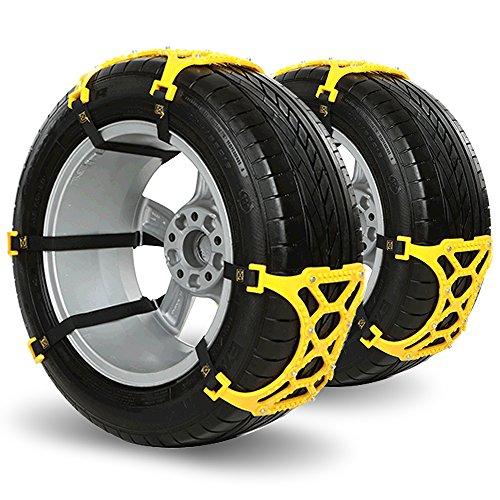 iRegro 6 PCS facile da installare Catene da neve antiscivolo, misura per la maggior auto / SUV / Truck-Set (comune)