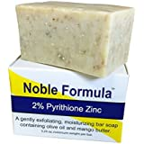 Noble Formula 2% Pyrithione Zinc Bar Soap 3.25 Oz, Mango Butter (Vegan) - Hand Crafted in the USA, Especially Formulated For Those With Psoriasis, Eczema, Dry And Sensitive Skin