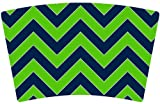 Mugzie® brand Cocktail Shaker with Insulated Wetsuit Cover - Seattle Football Colors Chevron