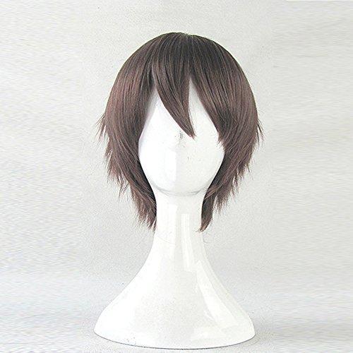 Sekai-ichi Hatsukoi Onodera Ritsu Red Brown Mix Short Cosplay Wig + Free Wig Cap by Fortunecookie