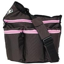 Diaper Dude Diaper Bag Brown-Pink Messenger I bag