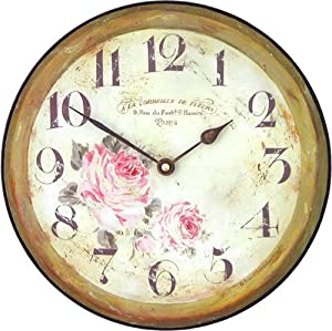 Roger Lascelles, Medium sized Floral Wall Clock: Amazon.co ...