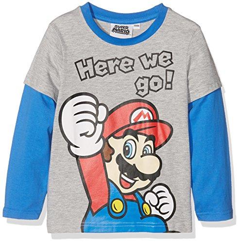 Super Mario Bros Ragazzi Maglietta maniche lunghe - grigio - 116