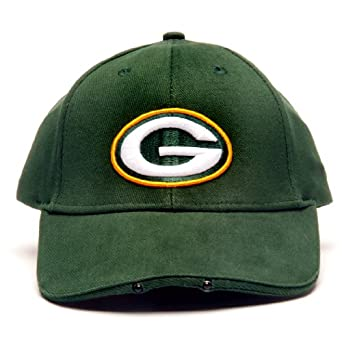 NFL Green Bay Packers Dual LED Headlight Adjustable Hat by Lightwear