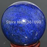 GIGANTIC AFGAN LAPIS LAZULI 51mm GEM STONE CRYSTAL BALL/ CRYSTAL SPHERE