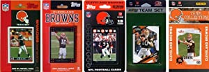 NFL Cleveland Browns 5 Different Licensed Trading Card Team Sets by C&I Collectables