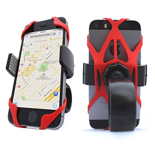Vibrelli-Universal-Bike-Phone-Mount-Holder-Fits-any-Smart-Phone-iPhone-6-Plus-Bike-Mount-iPhone-6S-5S-5-etc-all-iPhones-Samsung-Galaxy-S5S4S3-Google-Nexus-Nokia-Motorola-Bicycle-Handlebar-Motorcycle-C