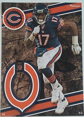 "Alshon Jeffery 2014 NFL Fathead Tradeables 5"" x 7"" Chicago Bears - #38"