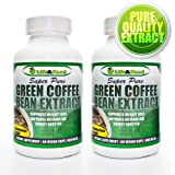 (2 Bottles) Super Pure Green Coffee Bean Extract 800 Mg | Most Recognized Clinically Proven Dietary Supplement using High Quality Natural Pure Vegetable Capsules Standardized to 45% Chlorogenic Acid | No Fillers or Binders