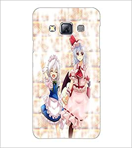 PrintDhaba Girls D-3272 Back Case Cover for SAMSUNG GALAXY A3 (Multi-Coloured)