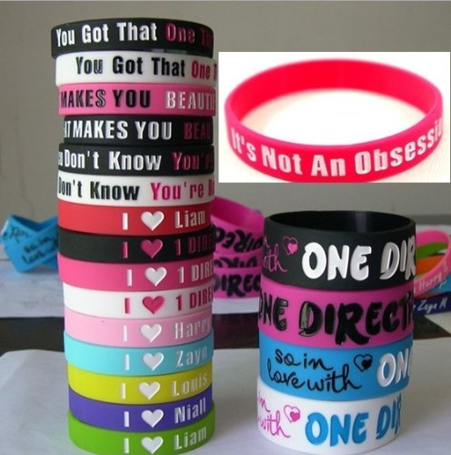 20pcs I Love ONE Direction Bracelet Silicone