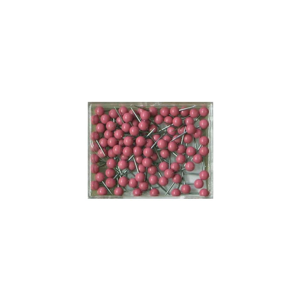 Map Tack Push Pins   Old Rose (box of 100 pins)