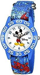 Disney Kids W002458 Mickey Mouse Time Teacher Analog Display Analog Quartz Blue Watch