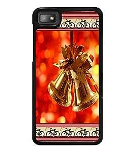 PrintDhaba Christmas Bells D-2515 Back Case Cover for BLACKBERRY Z10 (Multi-Coloured)