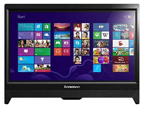 Lenovo C260 19.5-inch Non-TouchScreen All-in-One Desktop (Intel Celeron J1800 2.58 GHz, 4 GB DDR3 RAM, 500 GB HDD, Integrated Graphics, DVDRW, HDMI, Camera, Wi-Fi, Windows 8.1 with Bing) - Black with Free Windows 10 Upgrade