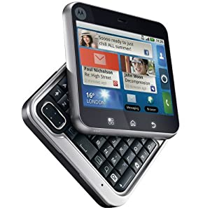 Motorola Flipout Unlocked GSM Quad-Band Android Phone with Bluetooth, Camera, QWERTY Keyboard and Wi-Fi - Unlocked Phone - US Warranty - Black