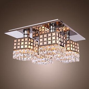 LightInTheBox Stainless Modern Crystal Ceiling Light Fixture Flush Mount Gei