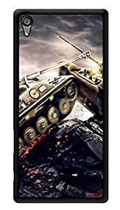 """Humor Gang Tank In Action Printed Designer Mobile Back Cover For """"Sony Xperia Z5"""" (3D, Glossy, Premium Quality Snap On Case)"""