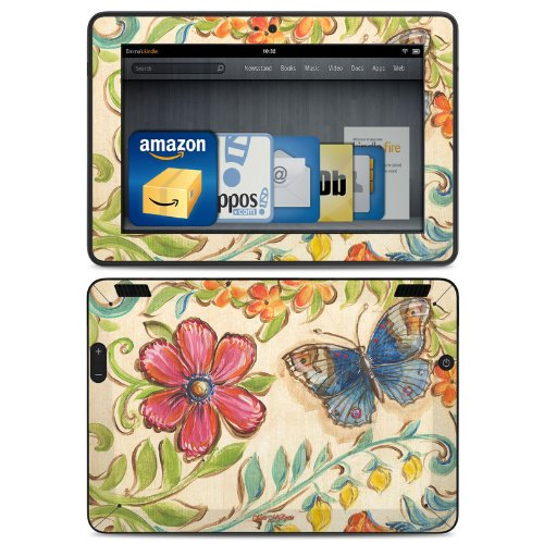 Garden Scroll Design Protective Decal Skin Sticker (Matte Satin Coating) For Amazon Kindle Fire Hdx 7 Inch (Released 2013) Ebook Reader