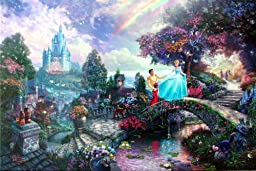 Cinderella Wishes Upon A Dream (Disney Dreams IV) Thomas Kinkade 18x27 Gallery Proof Limited Edition Lithograph on Paper