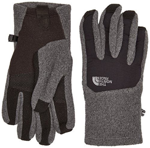 The North Face Men's Denali Etip Gloves (Large, Charcoal Grey Heather/TNF Black)