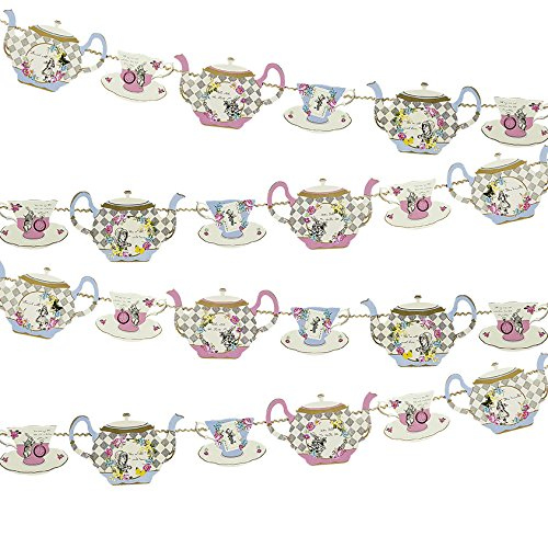 Talking Tables Truly Alice Tea Party Decorative Teapot Bunting, 4m, Multicolor (Teapot Table compare prices)