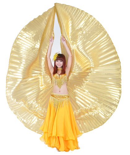 Shining Belly Dance Costume Isis Wings (Golden)