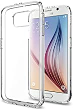 Galaxy S6 Case, Spigen® [AIR CUSHION] Galaxy S6 Case Bumper **NEW** [Ultra Hybrid] [Crystal Clear] - [1 Back Protector Included] Scratch Resistant Bumper Case with Clear Back Panel for Galaxy S6 (2015) - Crystal Clear (SGP11317)