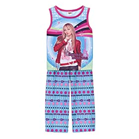Girls' Hannah Montana Capri Pants Pajama Set - Blue