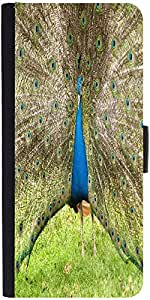 Snoogg Colorful Peacock Designer Protective Phone Flip Case Cover For Phicomm Energy 653 4G