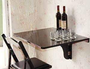 Tavolo da muro pieghevole in legno 75 60cm colore nero so fwt01 sch casa e cucina - Tavoli da cucina a muro ...