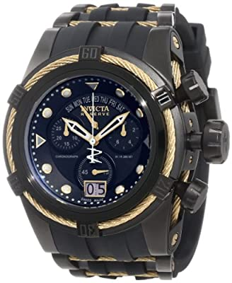 Invicta Men's 12299 Bolt Zeus Reserve Chronograph Black Dial Black Polyurethane Watch