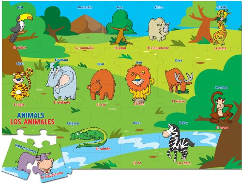 Ingenio Bilingual Learning Puzzle - Animals