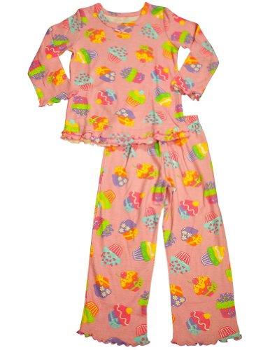 Sara'S Prints - Baby Girls Long Sleeve Cupcakes Pajamas, Pink 32769-18Months