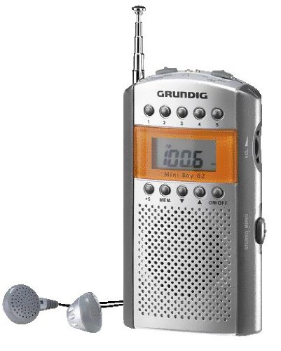 Grundig GRR2090 Mini Boy 62- Radio Portatile (Silver/Orange)