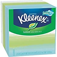 KLEENEX Lotion Facial Tissue, 3-Ply, 75 Sheets/Box