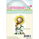 Little Darlings CandiBean Cling Mounted Rubber Stamp, 3.4-Inch by 2.027-Inch, Sunflower Daisy