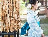 TAYU-TAFU(たゆたふ) 浴衣 レディース レトロ しじら織 フリー 水色×白