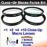 55mm Digital Pro High-Resolution Close-Up Macro Filter Set With Pouch For The Sony Alpha A500, A550, A560, A700...