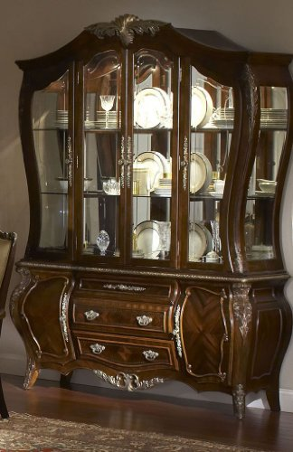 Picture of Aico Furniture China Cabinet  - Radiant Chestnut (79005-40R) (79005-40R) (China Cabinets)