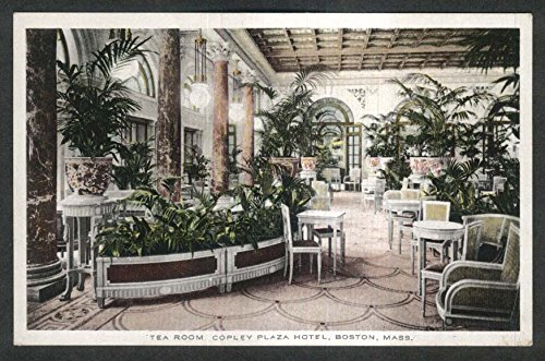 Tea Room Copley Plaza Hotel Boston Ma Postcard 1910S
