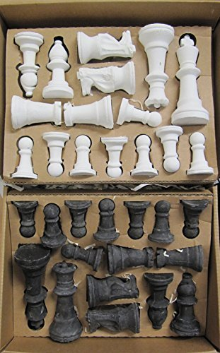 UNIQUE OUTDOOR BLACK & WHITE CHESS SET MADE OF CHALK DRAW THE BOARD YOURSELF by Gift Ideas