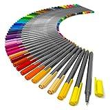 Staedtler Triplus Fineliner Pens - Metal Gift Tin of 50 Brilliant Colours - 0.3mm