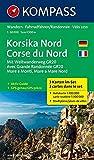 Korsika Nord - Corse du Nord - Weitwanderweg GR20: Wanderkarten-Set mit Aktiv Guide. GPS-genau. 1:50000 (KOMPASS-Wanderkarten, B